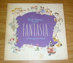 Walt Disney Presents Fantasia movie souvenir program 1977 mickey mouse