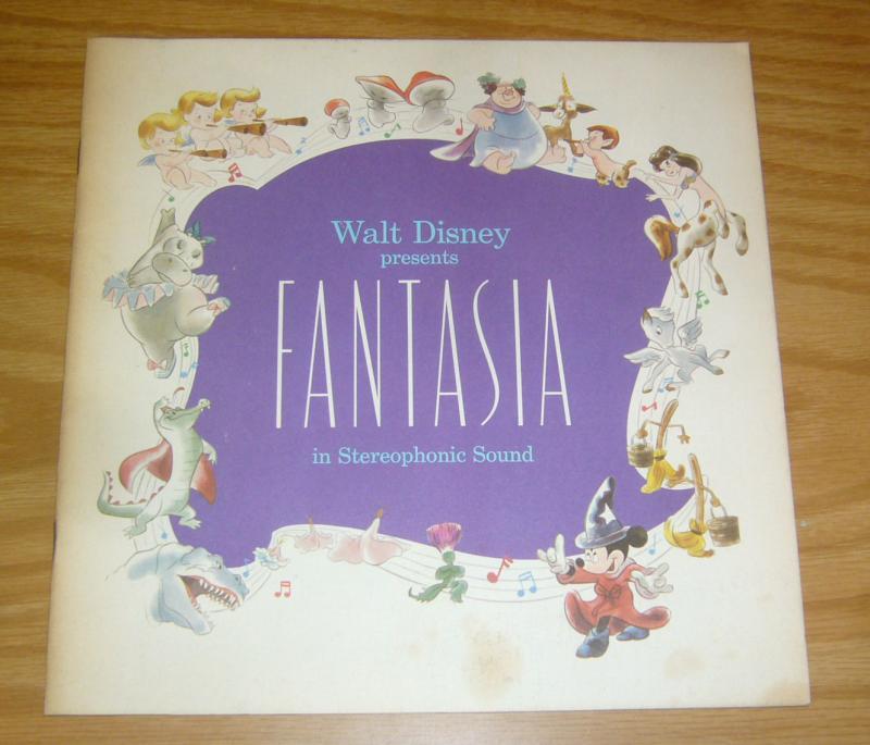 Walt Disney Presents Fantasia movie souvenir program 1977 mickey mouse