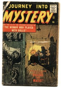 JOURNEY INTO MYSTERY #48 1957 Atlas horror comic book