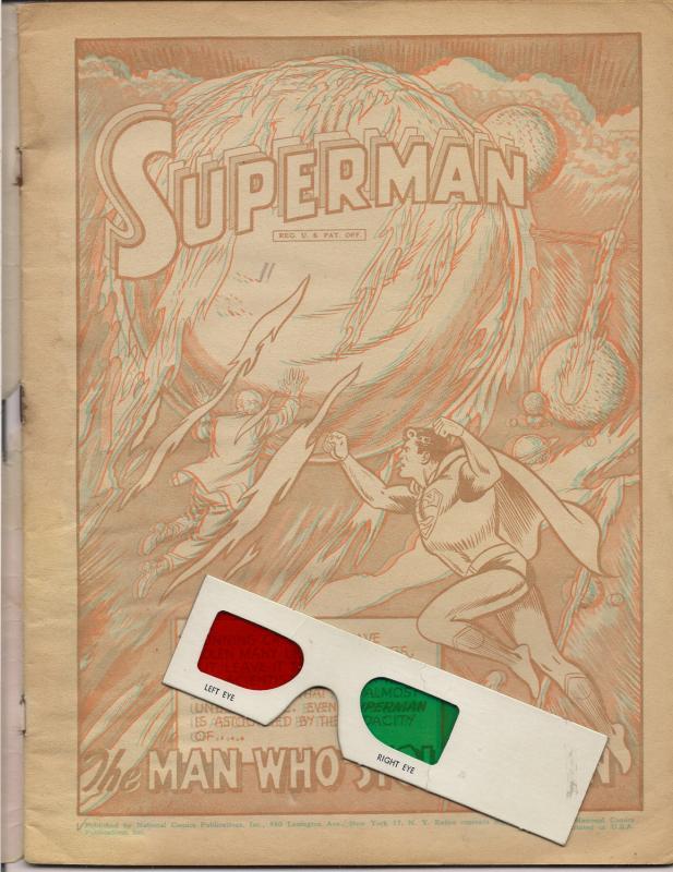 DC Comics,1953,3D,Three Dimension Adventures of SUPERMAN,Jerry Siegel,Curt Swan
