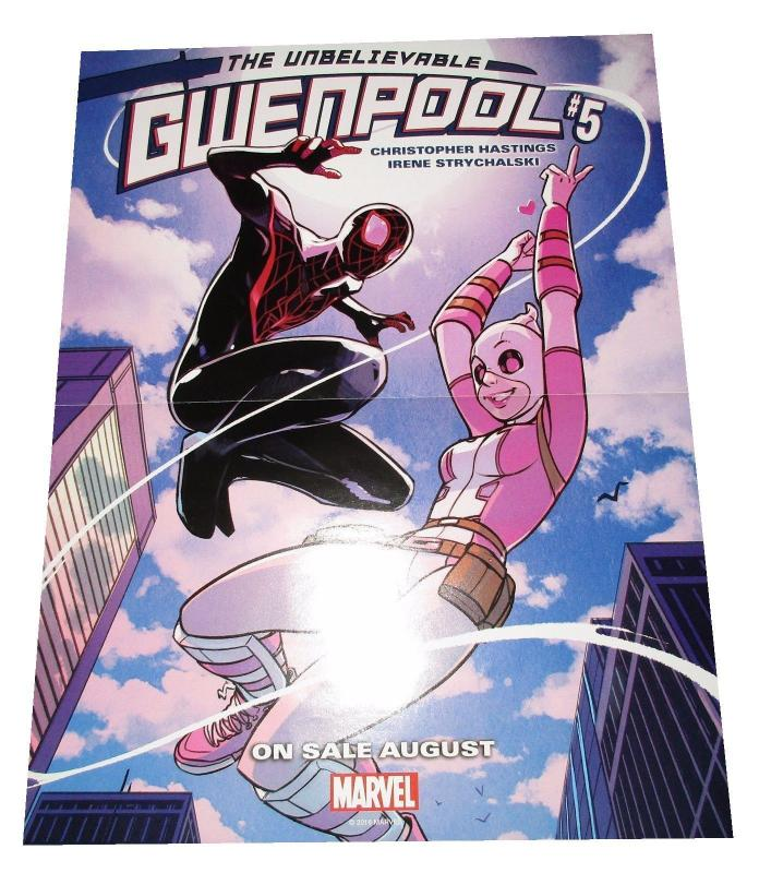 Unbelievable Gwenpool #5 Reversible Folded Promo Poster (10 x 13) - New!