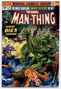 Man-Thing #10 (1st Series) NM- 9.2 Ploog art; cover by Gil Kane