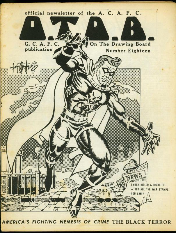 On the Drawing Board Fanzine #18 1967- Comic Reader #66- Black Terror VG
