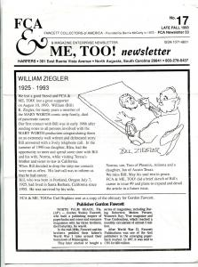 Fawcett Collectors Of America Newsletter #53 1993-BILL ZIEGLER