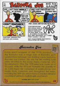 2013 Topps 75th Anniversary #60 Bazooka Joe > Gum > Comic > 1975