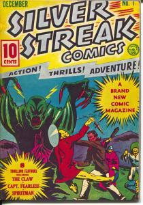 Silver Streak 1970's-Reprints Silver Streak #1 from 1939-color cover-FN/VF