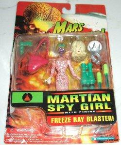 MARS ATTACKS MARTAIN SPY GIRL WITH FREEZE RAY BLASTER!! FACTORY SEALED