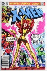The Uncanny X-Men #157 - Classic Dark Phoenix Cover - Newsstand - NM - Marvel 82