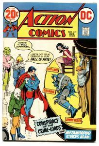 ACTION COMICS #417 comic book 1972-SUPERMAN-WOMAN TIED UP-Batman