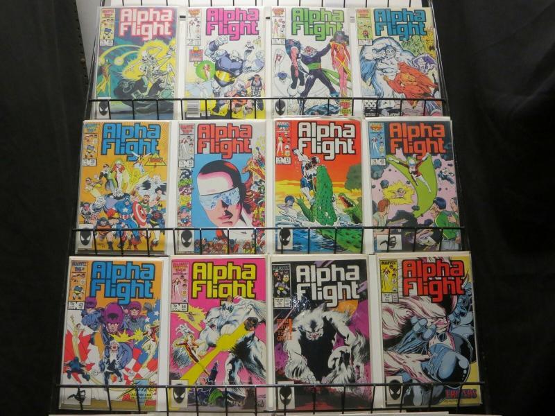 ALPHA FLIGHT (1983-1990) 35-50  CANADIAN MUTANT TEAM!