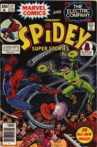 Spidey Super Stories #21, VF- (Stock photo)