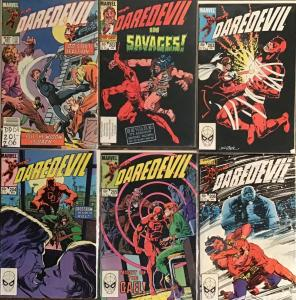 DAREDEVIL MARVEL #201-206 MOST ARE IN NM OR VF.SATISFACTION GUARANTEED.