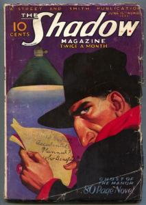 Shadow Pulp June 15 1933- GHOST OF THE MANOR rare VG