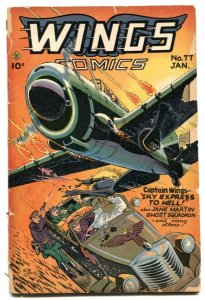 Wings #77 1947- Fiction House golden age G