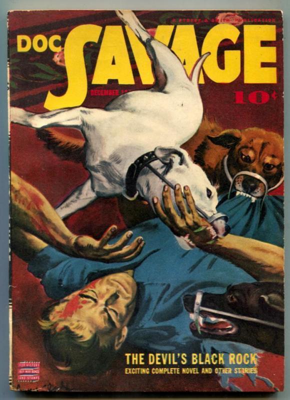 Doc Savage Pulp September 1942- Devil's Black Rock FN