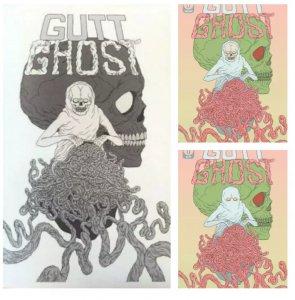 Gutt Ghost #1 Lot Cover A Secret Skull Variant & Ashcan, FCBD w/ Sketch Book HTF
