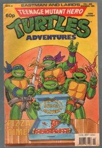 Teenage Mutant Hero Turtles #22-1990-rare U.K. edition in color-Ninja Turtles-VG