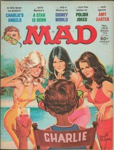 ORIGINAL Vintage Sep 1977 Mad Magazine #193 Farrah Fawcett Charlie's Angels