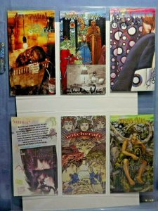 Six 1990s DC Comics VERTIGO Art Trading Cards AUTOGRAPHED CHRIS BACHALO & MORE!!