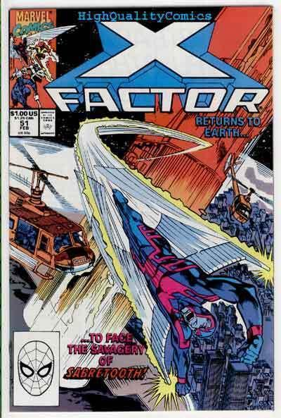 X-FACTOR #51, VF/NM, Sabretooth, Simonson, Beast, Cyclops,1986, more in store