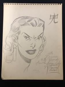 Dragon Lady Sketch by George Wunder April 1952- Terry & the Pirates