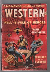 Western 4/1957-Atlas-Carl Burgos interior art-Martin Goodman-pulp digest-G
