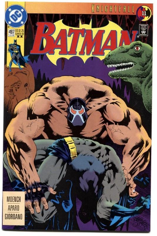 BATMAN #497-SECOND PRINT-HTF-KNIGHTFALL-BANE BREAKS BATMAN