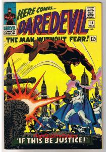 DAREDEVIL #14, VF, Ka-Zar, Plunderer, John Romita,1964, more DD in store