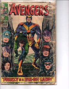 Marvel Comics The Avengers #30 GD reading copy Stan Lee script Jack Kirby cover