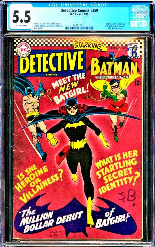 Detective Comics #359 CGC Graded 5.5 Origin & 1st appearance of Batgirl