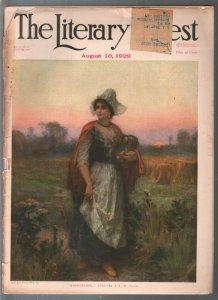 Literary Digest 8/10/1929-Evangeline cover-L G Ferris-Lewis Carroll-Blimps-pri