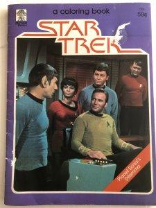 Star Trek planet ecnal's Dilemma coloring bk, one page done,,1979