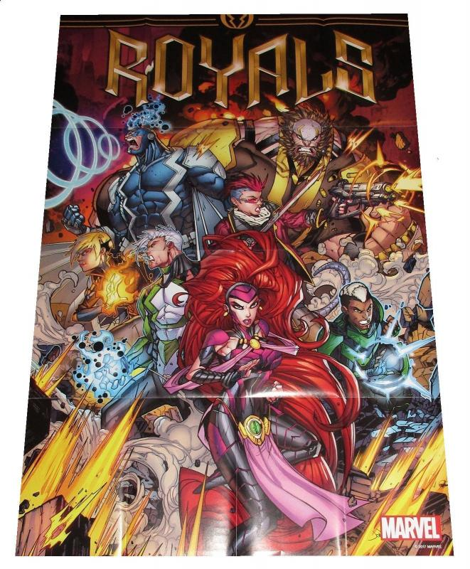 Royals Folded Promo Poster Inhumans Marvel (24 x 36) - New!