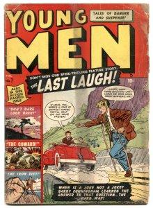 Young Men #7 1951- handicap prank cover- Atlas Golden Age G-
