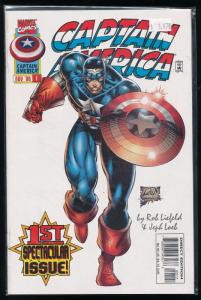 Captain America #1 Vol 2 Rob Liefeld (Marvel 1996) VF/NM (HX97)