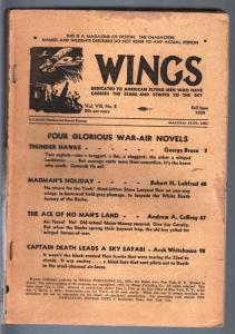 WINGS FALL 1939-GEORGE BRUCE-AVIATION PULP P/FR