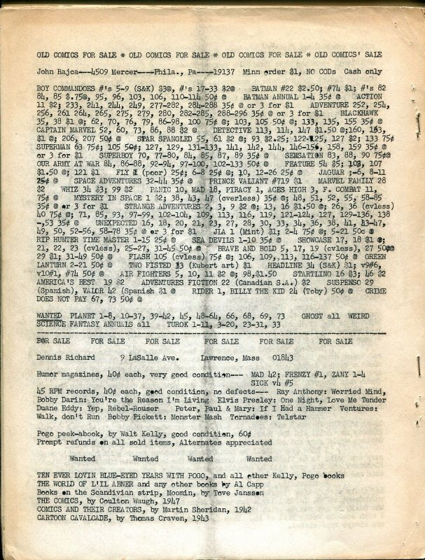 Comic World #4 1964-Robert Jennings-Capt Marvel Jr-pioneer fanzine-G/VG