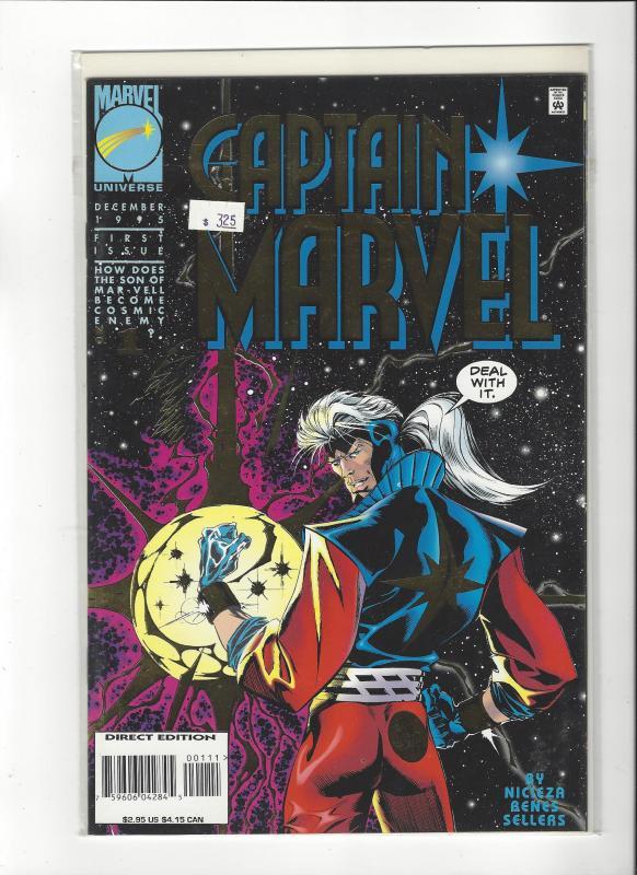 Captain Marvel #1 (1995) Foil Cover Marvel Comics NM
