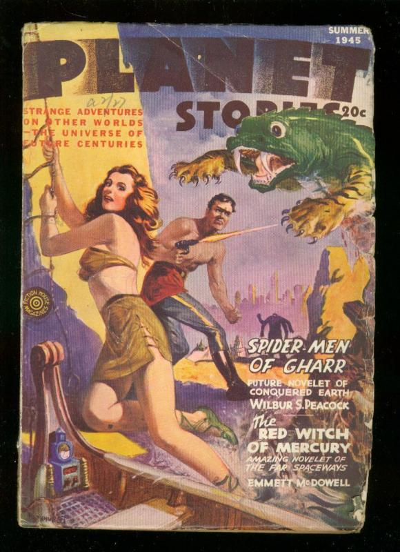 PLANET STORIES-SUMR 1945-PARKHURST GOOD GIRL ART COVER  VG