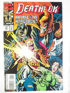 DEATHLOK #26 (August 1993) - Dave Ryan Autograph first inking Marvel Comics book