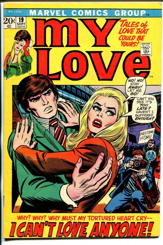My Love #19 1972-Marvel-romantic tension cover-John Buscema-Romita-FN