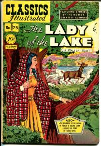 Classics Illustrated #75 HRN 75 1949-Gilberton-Lady of The Lake-Scott-VF-