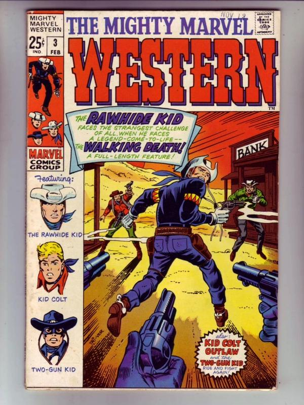 Mighty Marvel Western #3 (Feb-69) VF/NM High-Grade Rawhide Kid, Kid Colt, Two...