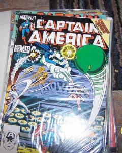 Captain America # 314 1986, Marvel  nighthawk squadron supreme