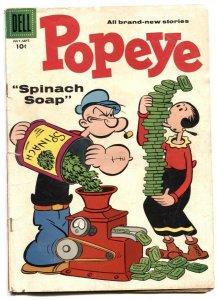 Popeye #41 1957- Dell silver age comic VG