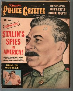 National Police Gazette-3/1952-Stalin-Red spies-Hitler hide-out-cheesecake-FR