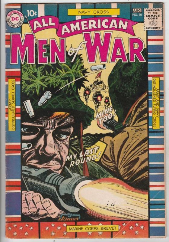 All-American Men of War #80 (Aug-60) FN+ Mid-High-Grade