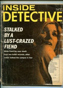 INSIDE DETECTIVE-JUNE 1970-BAIT-TRAP-STALKED-HUSTLER-MURDER-MIGHTMARES FR/G
