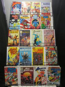 Copper Age Comic Book Library of Issue 1s! Lot of 122Diff Indies Fantasy SciFi!