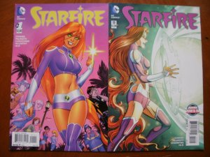 2 Near-Mint DC Comic STARFIRE #1 #11 (2015 2016) Conner Palmiotto McCarthy Hi-Fi
